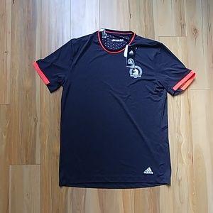 NWT Adidas boston marathon 2015 shirt mens M grey